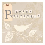 Think Positively Art by Marco Fabiano