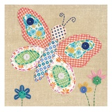 Patchwork Butterfly Giclee Print by Paula Joerling