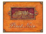 Pinot Vineyard Print by Angela Staehling