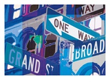 Broadway and Grand Reproduction procédé giclée par Evangeline Taylor