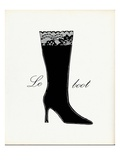 Little Black Tall Boot Premium Giclee Print by  Studio 5