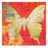 Red Pop Butterfly Giclee Print by Walter Robertson