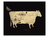 Silhouette Cow Giclee Print by Alison Shriver