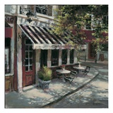 Wine Cafe Giclee Print by Brent Heighton