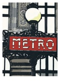 Metro in Paris Giclee Print by Jo Fairbrother