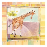 Playful Giraffe Giclee Print by Robbin Rawlings