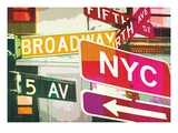 Broadway and Fifth Ave Reproduction procédé giclée par Evangeline Taylor