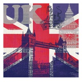 UK London Print by Evangeline Taylor