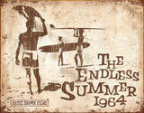 Endless Summer Retro Placa de lata