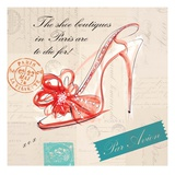 Paris Shoe Bow Prints by Barbara Lindner