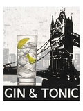 Gin and Tonic Destination Posters by Marco Fabiano