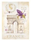 Arc De Triomphe Lilacs Art par Angela Staehling