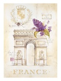 Arc De Triomphe Lilacs Art by Angela Staehling