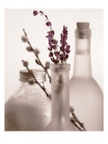 Lavender Bottles Poster by Julie Greenwood