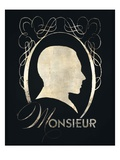 Monsieur Silhouette Prints by Lisa Vincent