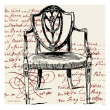 Script Arm Chair Giclee Print by Walter Robertson