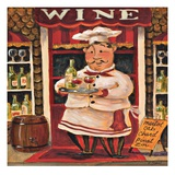 Wine Chef Poster by K. Tobin