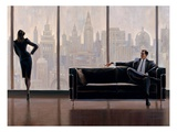 Pensive New York Gicl&#233;e-Druck von Brent Lynch