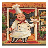 Pasta Chef Giclee Print by K. Tobin