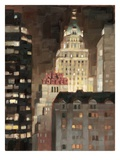 Manhattan Illuminated Print by Paulo Romero