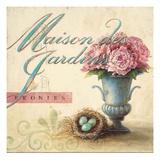 Maison Des Jardins Giclee-tryk i høj kvalitet af Angela Staehling