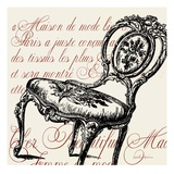 Script Chair Single Giclee Print by Walter Robertson