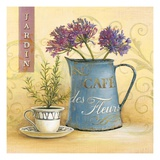Cafe Des Fleurs Giclee Print by Angela Staehling