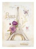 Eiffel Tower Roses ポスター : アンジェラ・スターリング