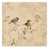 Chickadee and Pear Art by Jill Schultz McGannon