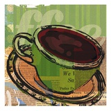 Etched Coffee Poster by Walter Robertson