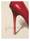 Red Stiletto Giclee Print by Marco Fabiano