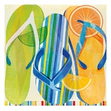 Holiday Flip Flops Prints by Mary Escobedo