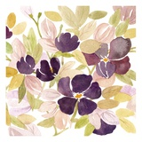 Aubergine Blossom 2 Prints by Edith Lentz