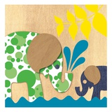 Elephant Family Poster by  Z Studio