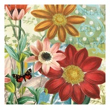 Polka Dot Dahlia Giclee Print by Walter Robertson