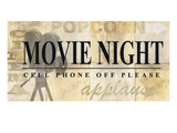 Movie Night Giclee Print by  Z Studio