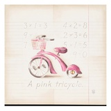 Pink Tricycle Giclee Print by Lauren Hamilton