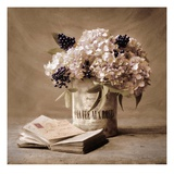 Hortensienstrauß Kunstdrucke von Cristin Atria