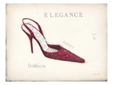 Elegance - Rouge Detail Print by Emily Adams