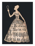 Script Dress Giclee Print by Lisa Jones