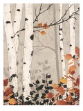 Birch Damask Giclee Print by Melissa Pluch