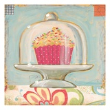 One Sprinkle Cupcake Giclee Print by K. Tobin