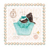 Teacup Yorkie Puppy Purse Poster von Chad Barrett