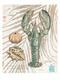 Aqua Lobster Premium Giclee Print by Chad Barrett