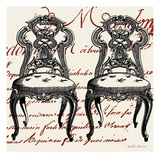 Script Chair Duo Giclee Print by Walter Robertson