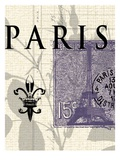 Paris Stamp Premium Giclee Print by  Z Studio