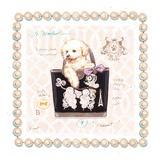 Bichon Puppy Purse Poster von Chad Barrett