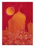 Taj Mahal mit Paisley-Muster|Paisley Taj Kunstdruck von Hope Smith