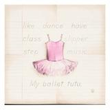 Ballet Tutu Plakater af Lauren Hamilton