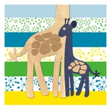 Giraffe Family Posters by  Z Studio